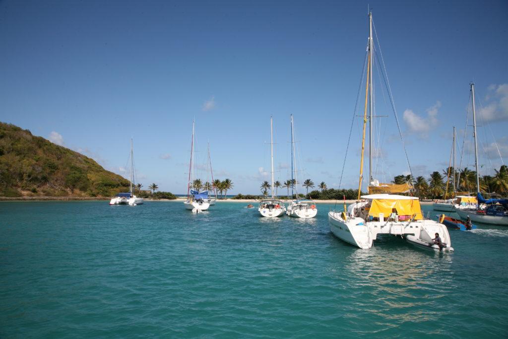 Rejs po Karaibach - kotwiczenie